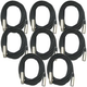 Microphone Cable 20ft XLR to XLR 8-Pack