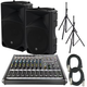 Mackie Thump 15 Powered Speakers (2) with ProFX12V2 Mixer & Stands