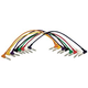On Stage 1/4 Right Angle Patch Cable (8 Pack)