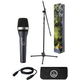 AKG Stage Pack D5 XLR Cable Mic Stand w Boom Arm