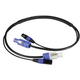Blizzard PowerCon plus 3-Pin DMX Combo Cable 3ft