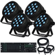 Blizzard LB Par Hex x4 LED Wash Light System