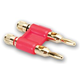 Hosa Dual Banana Connector - Red