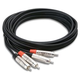 Pro 20 ft Dual RCA (M) To Dual RCA (M) Audio Cable