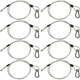 Steel Light Fixture Safety Cable w/ Latch 8 Pack