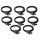 25ft Pro Grade XLR Microphone Cable - 8 Pack
