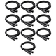 25ft Pro Grade XLR Microphone Cable - 10 Pack