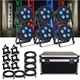 ADJ American DJ 5P Hex LED Light 6-Pack with ATA Road Case
