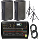 Behringer X32 Digital Mixer & (2) Turbosound M15 Powered Speakers