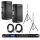 JBL EON612 Powered Speakers (2) with dbx DriveRack PA2 & Stands