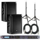 JBL SRX815P Powered Speakers (2) with dbx DriveRack 260 & Stands