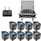 Chauvet Freedom Par TRI-6 9 Pack with FlareCON & Case