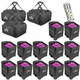 Chauvet Freedom Par Hex-4 12 Pack with Bags & IRC 6 Remote