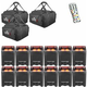 Chauvet Freedom Par Quad-4 12 Pack with Bags & IRC 6 Remote
