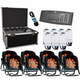 ADJ American DJ Flat Par QA12XS LED 8 Pack with Road Case