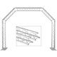 Global Truss Mini Arch System1 with 2x 1M Truss Extensions