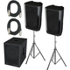 Peavey DM112 (2) & DM118S Powered Speaker Bundle