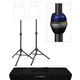 Ultimate Dual TS90B Speaker Stand w/ Carrying Bag