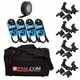 Lighting Essentials Bundle with 15ft DMX Cables, Clamps & Bag