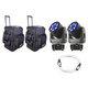Chauvet Intimidator Trio 2 Pack with Travel Bags