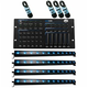 ADJ American DJ Ultra Hex Bar 12 4 Pack with Hexcon DMX