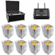 Chauvet Freedom Par Quad 4 IP White 8 Pack with Case