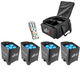 Chauvet Freedom Par Tri 6 4 Pack with Bag and IRC 6 Remote