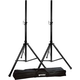 Gemini Pair of Speaker Stands with Carrying Case