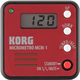 Korg MCM1RD MicroMetro Clip-on Metronome-Red