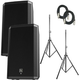 Electro-Voice ZLX12P Powered Speakers (2) with Stands & Cables