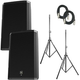 Electro-Voice ZLX15P Speaker Bundle w/ Stands