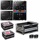 Pioneer DJM-S9 Mixer with PLX1000 Turnrables Complete DJ Bundle