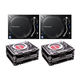 Pioneer PLX-1000 DJ Turntables with Road Cases