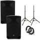 Mackie Thump 15 Powered Speakers (2) with Stands & Cables
