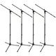 Tripod Microphone Stand with Boom 4-Pack