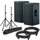 DAS Action 15A Powered Speakers with Stands & Cables