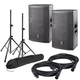 DAS Vantec 12A Powered Speakers (2) with Stands & Cables