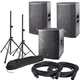 DAS Vantec 12A (2) & Vantec 18A Powered Speakers with Stands & Cables