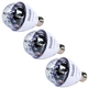Solena Mini Screw-In RGB LED Rotating Bulb 3 Pack