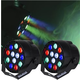 Solena Mini Par 12 DMX 12x1-Watt RGBW LED Light 2 Pack