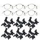 Lighting Accessory Pack 6x O-Clamp & Safety Cables