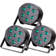 Solena Max Par 70 DMX 7x10-Watt RGBW LED Light 3-Pack