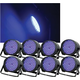 Solena Max Par 20 RGB 20W DMX LED Wash Light 8-Pack