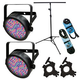 Chauvet SlimPAR 56 Complete 2-Pack with Light Stand & Accessories