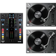 Mixars DUO DJ Mixer for Serato with 2 Numark TT250USB Turntables