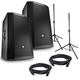 "JBL PRX815W 15"" Powered Speakers (Pair) & Gator Stands Bundle"