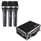AKG D5 Dynamic Handheld Mic 3-Pack with Carrying Case