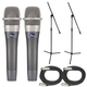 Blue Encore 100 Dual Mic Pack with Stands & Cables
