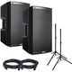 Alto TS215 Powered Speaker Bundle w/Stands Cables
