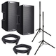 Alto TS212W Wireless Powered Speakers (2) with Stands & Cables